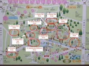 Jindaiji Map 300